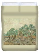 The Olive Orchard, 1889 Duvet Cover