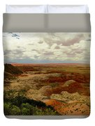 Viewpoint In The Painted Desert Duvet Cover