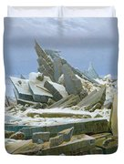 The Polar Sea Duvet Cover by Caspar David Friedrich