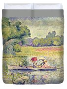 The Promenade In The Bois De Boulogne Duvet Cover