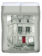 The Red French Door Duvet Cover