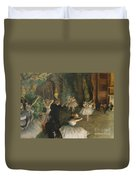 The Rehearsal Of The Ballet On Stage Duvet Cover