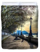 The River Thames Path Duvet Cover