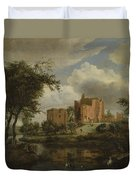 The Ruins Of Brederode Castle Duvet Cover