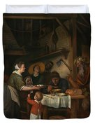 The Satyr And The Peasant Family Duvet Cover
