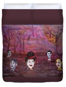 The Silence Of The Mimefield Duvet Cover