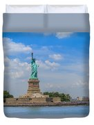 The Statue Of Liberty In New York City Duvet Cover