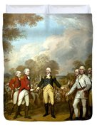 The Surrender Of General Burgoyne Duvet Cover