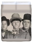 The Three Stooges Hollywood Legends Duvet Cover