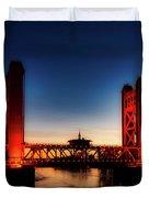 The Tower Bridge At Sunset Duvet Cover