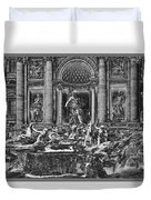 The Trevi Fountain  Duvet Cover