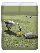 The Turtle And The Goose Duvet Cover
