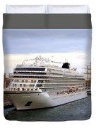 The Viking Star Cruise Liner In Venice Italy Duvet Cover