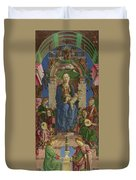 The Virgin And Child Enthroned Duvet Cover