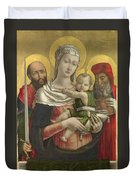 The Virgin And Child With Saints Paul And Jerome Duvet Cover