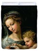 The Virgin Of The Rose Duvet Cover