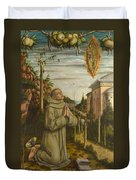 The Vision Of The Blessed Gabriele Duvet Cover