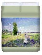 The Walk Duvet Cover by Claude Monet