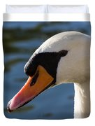 The Watchful Swan Duvet Cover