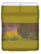 The Water Lilies, Setting Sun Duvet Cover