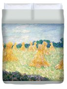 The Young Ladies Of Giverny, Sun Effect Duvet Cover