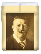 Theodore Roosevelt Duvet Cover by Artistic Panda