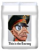 This Is The Enemy - Ww2 Poster Duvet Cover