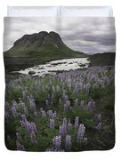 Thofafoss Waterfall Iceland 1571 Duvet Cover