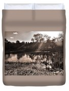 Thornton Reservoir, Leicestershire Duvet Cover