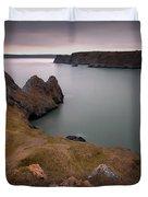 Three Cliffs Bay Gower Duvet Cover