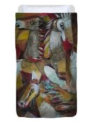 Three Horses Duvet Cover