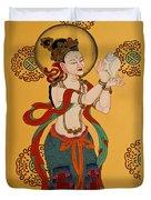 Tibetan Buddhist Mural Duvet Cover