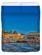 Tiburon Waterfront Duvet Cover