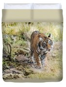 Tiger In The Woods Duvet Cover