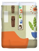 Tikis On The Wall Duvet Cover