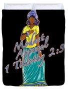 1 Timothy 2vs.9 Modest Apparel Duvet Cover