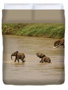 Tiny Elephants Duvet Cover