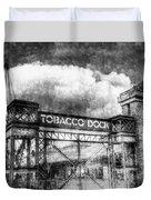 Tobaco Dock London Vintage Duvet Cover