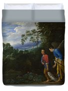 Tobias And The Archangel Raphael Duvet Cover