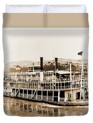Tom Greene River Boat Duvet Cover