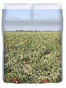 Tomato Field, California Duvet Cover