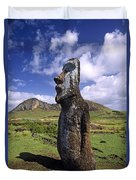 Tongariki Moai On Easter Island Duvet Cover