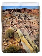 Tracks Of Color In Valley Of Fire Duvet Cover