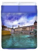 Trafalgar Square Fountain London 5 Art B Duvet Cover
