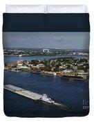 Transportation - Shipping On The Mississippi River Duvet Cover