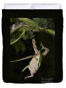 Tree Snake Eating Gecko Duvet Cover
