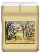 Trees And Houses Near The Jas De Bouffan Duvet Cover