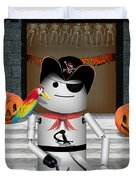 Trick Or Treat Time For Robo-x9 Duvet Cover