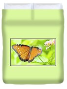 Tropical Queen Butterfly Framing Image Duvet Cover