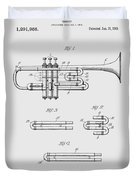 Trumpet Patent From 1919 Duvet Cover